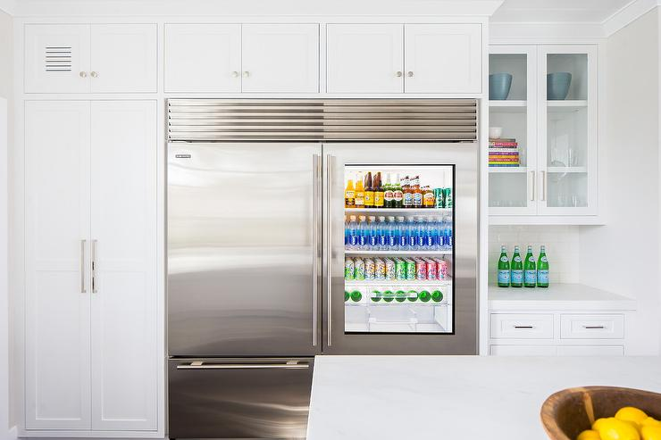 Glass door refrigerator with freezer drawer transitional kitchen glass door refrigerator with freezer drawer planetlyrics Choice Image