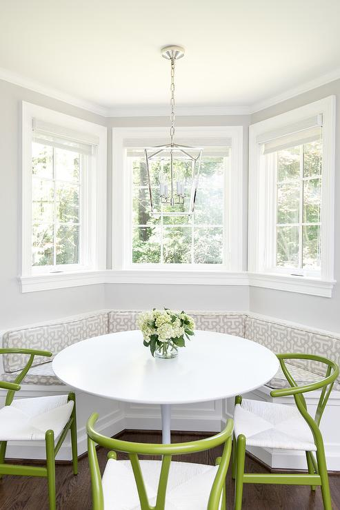 Stupendous Bay Window Dining Banquette With Ikea Docksta Table Gmtry Best Dining Table And Chair Ideas Images Gmtryco