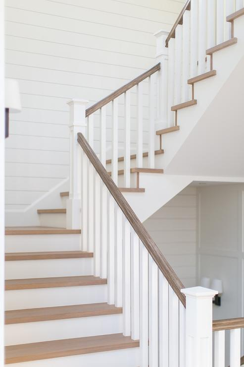 Ordinaire Gray Wash Wood Staircase Handrail