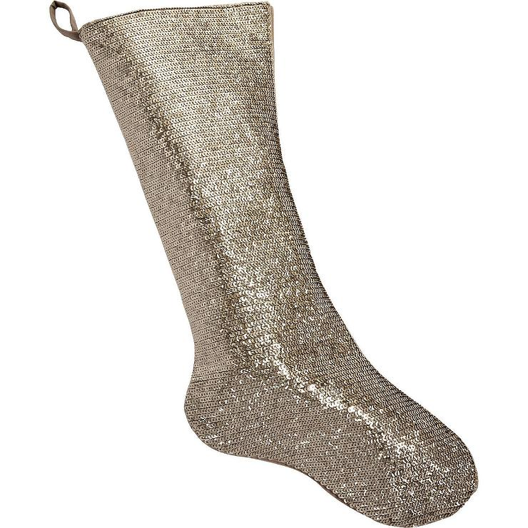 White Jewel Quilted Velvet Stocking