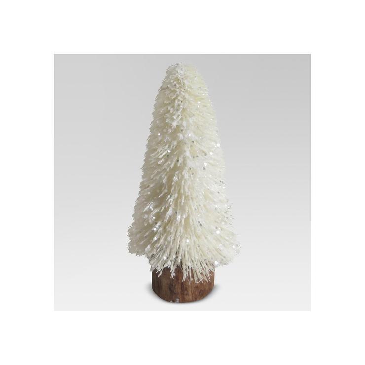 Threshold White Ceramic Tree Accent Patio Table