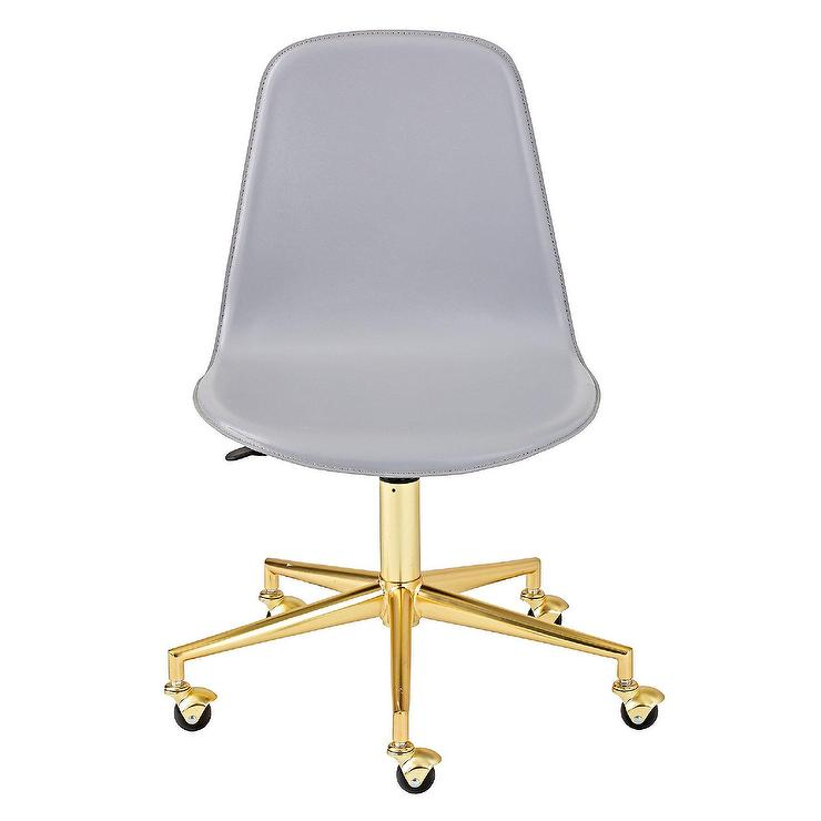 class act gray gold desk chair