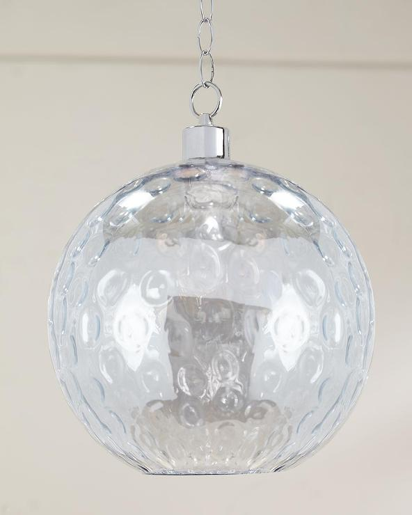 Bubble Clear Glass Sphere Pendant Light Hanging Lamp