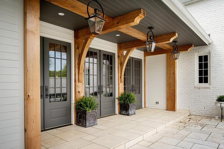 front door patio color | Ceiling Beams Design Ideas