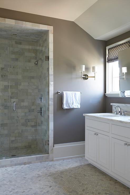 brown white and gray bathroom
