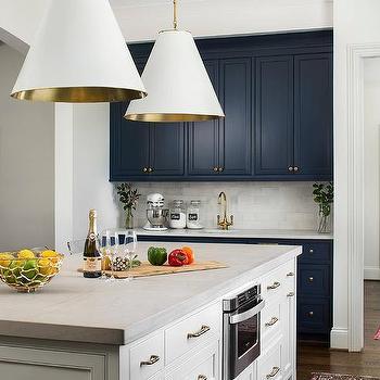 Light Gray Concrete Kitchen Island Countertops Design Ideas