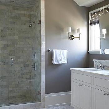 Warm Gray Brown Bathroom Wall Paint Design Ideas
