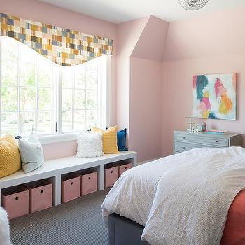 Pink Kid Bedroom Storage Bins Design Ideas