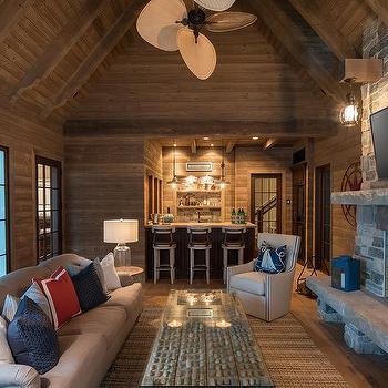 Cabin Style Living Room Design Ideas
