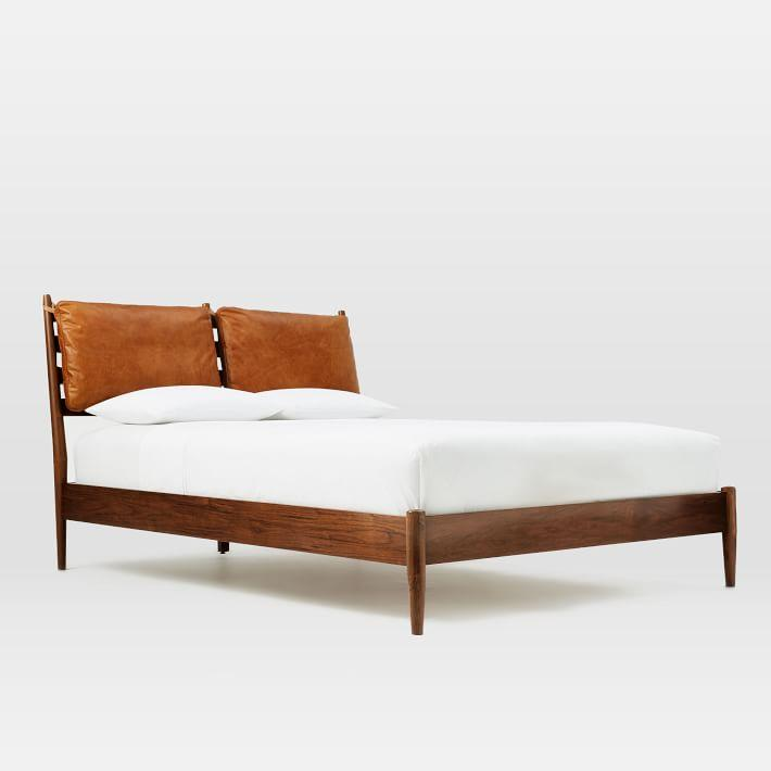 Arne Leather Cushions Slatted Wood Bed