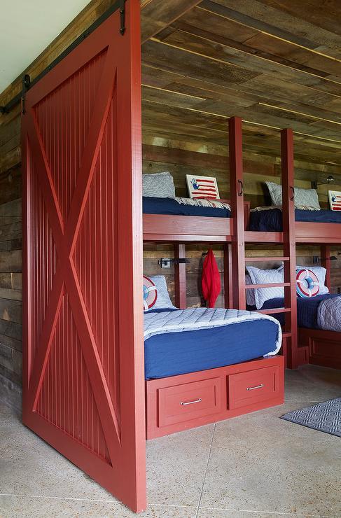 Red Barn Door On Rails