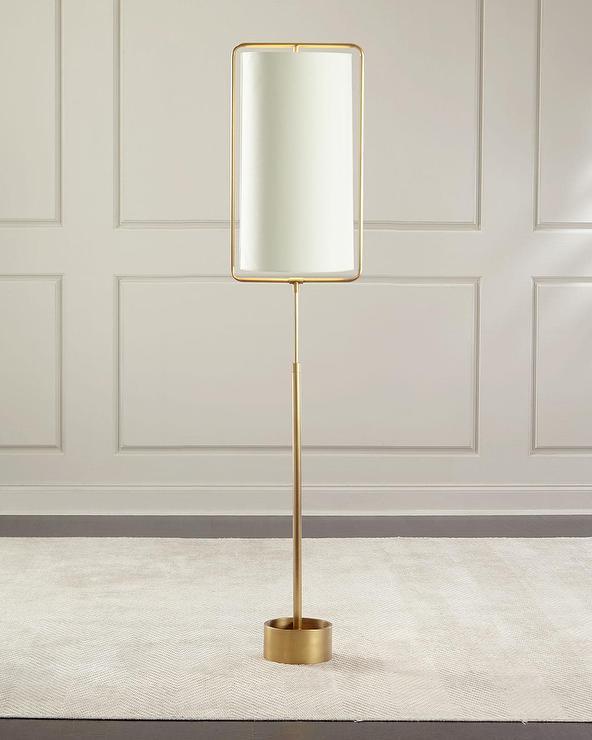 Regina andrew geo rectangle brass floor lamp aloadofball Gallery