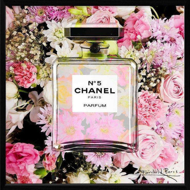 Pink Floral Dior Perfume Bottle Art