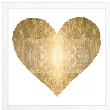 Hello Heart Of Gold On White Print