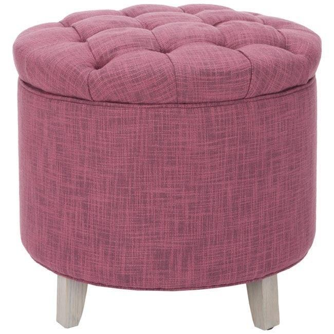 Super Amelia Round Tufted Rose Storage Ottoman Creativecarmelina Interior Chair Design Creativecarmelinacom