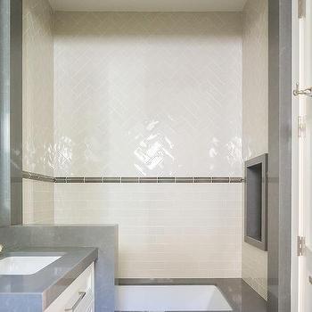 White Quartz Bathtub Deck Design Ideas