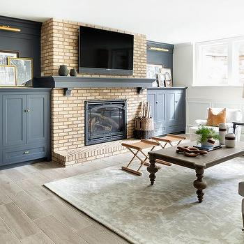 Caramel Leather Living Room X Stools Design Ideas