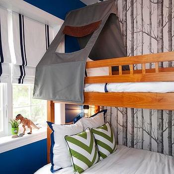 Bunk Bed With Gray Tent