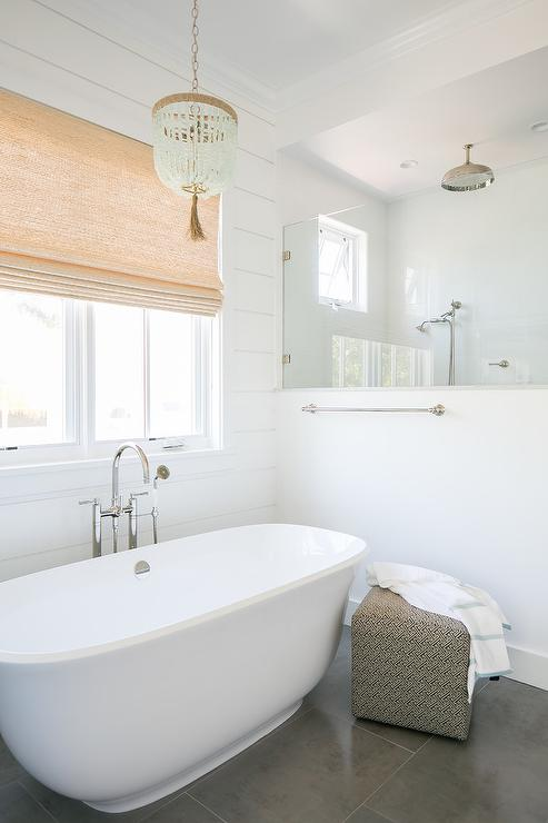 Bathroom With Gray Shiplap Walls Cottage Bathroom