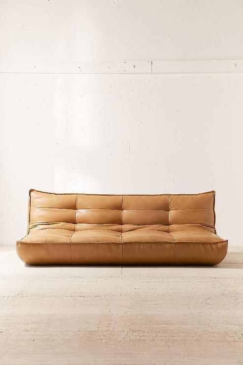 Greta Recycled Brown Leather XL Sleeper Sofa