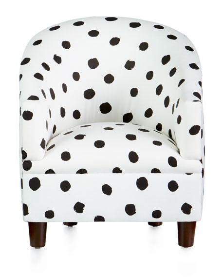 Charming Kids Corina Black White Polka Dot Chair