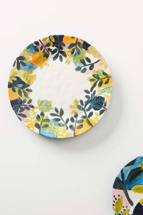 sc 1 st  Decorpad & Melbourne Hand Painted Leaves Dinner Plate