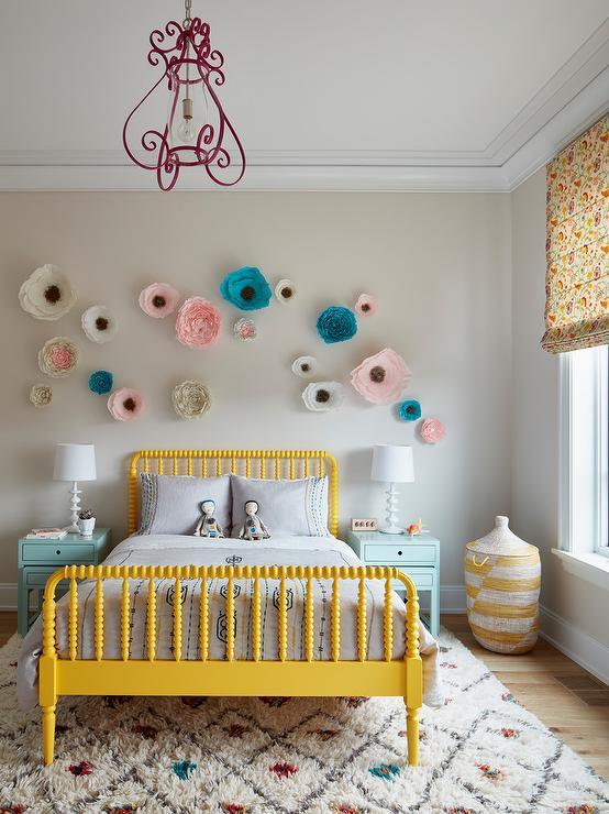 Colorful Moroccan Girl Bedroom Rug Design Ideas