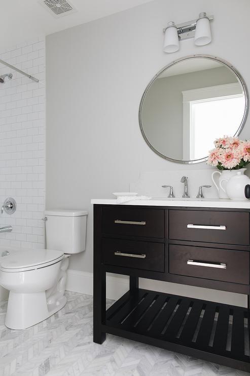Rivet Vanity Mirror Transitional Bathroom Space
