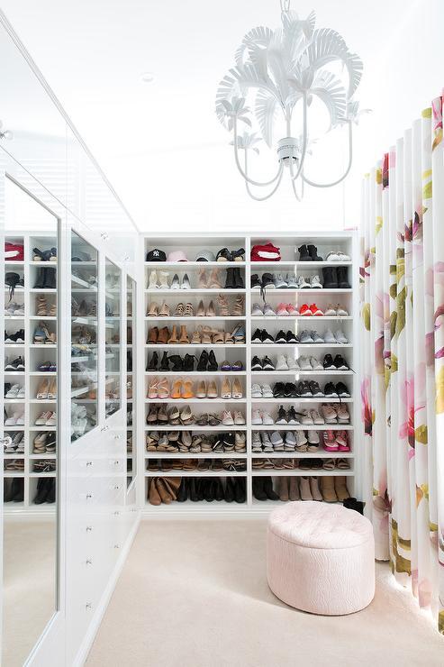 Excellent Round Pale Pink Closet Ottoman Contemporary Closet Alphanode Cool Chair Designs And Ideas Alphanodeonline