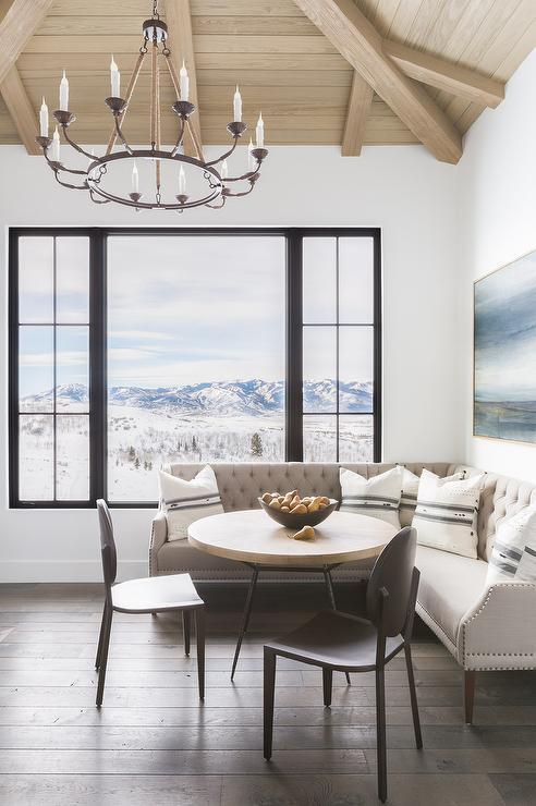 Alyssa Rosenheck: Gray Sectional Sofa as Dining Banquette ...