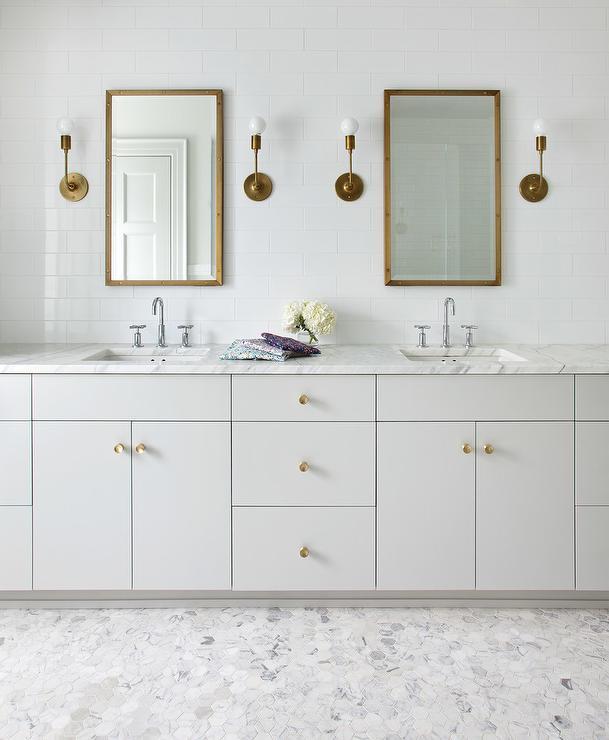 Light Brushed Nickel Bathroom Vanity, Brushed Nickel Bathroom Cabinet