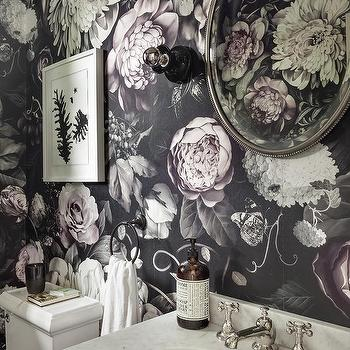 Pink And Black Roses Wallpaper Design Ideas