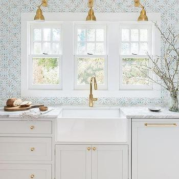 White And Blue Mosaic Kitchen Wall Tiles Design Ideas