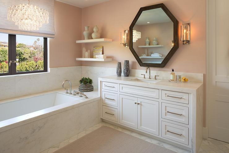 light pink bathroom interior design inspiration photos by wagner design 13464