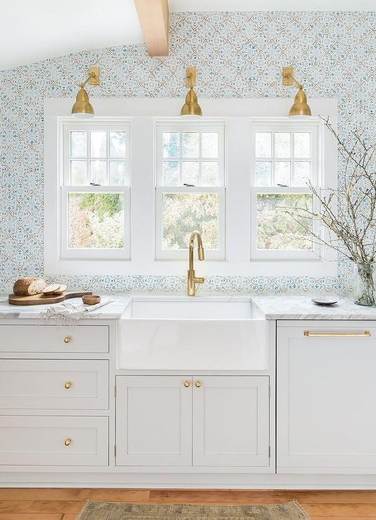 Kitchen Window Treatments Farmhouse Farm Sink