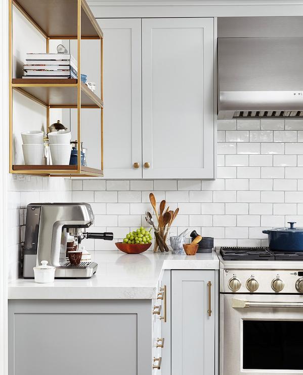 Kitchen Wall Unit Coffee Station Design Ideas