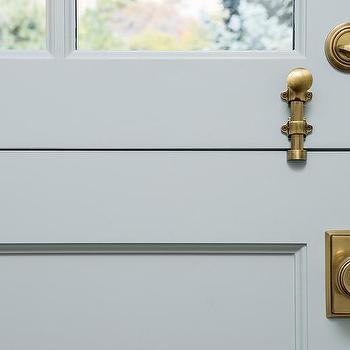 Light Gray Dutch Door With Glass Panes Design Ideas