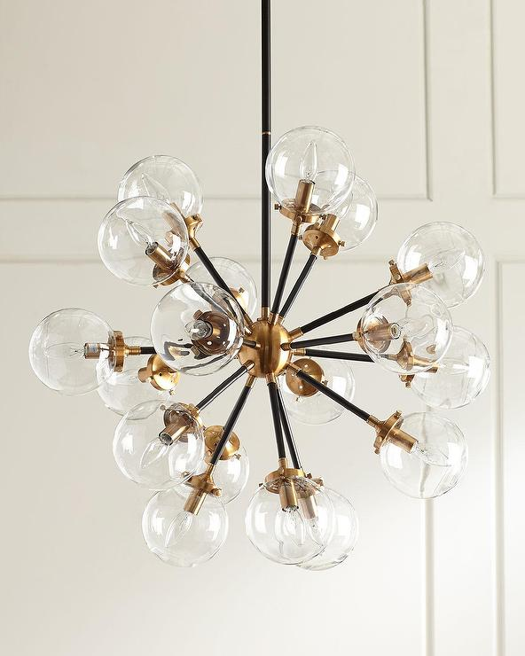 Bordeaux 18 Light Globes Brass Chandelier