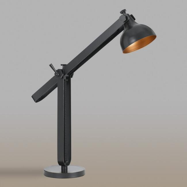 Black Bronze Metal Adjustable Desk Lamp
