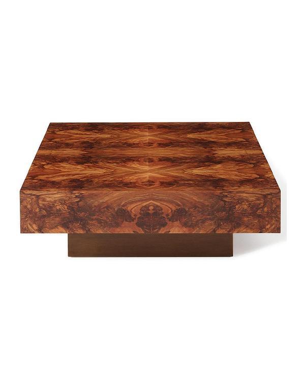 Jarvis Square Wood Veneer Coffee Table