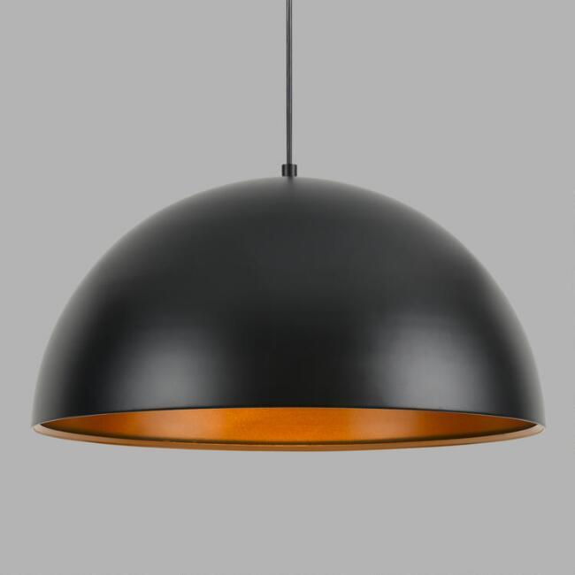 Black bronze metal dome pendant lamp mozeypictures Gallery