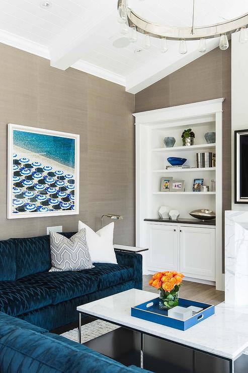 Shelf Over Sofa Contemporary Living Room Benjamin