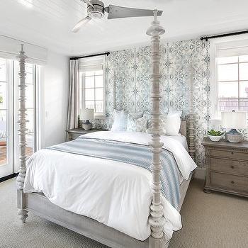 Lindsay Cowles Blue Bedroom Wallpaper Design Ideas