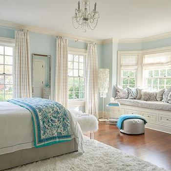 Girls Bedroom Bay Windows Design Ideas
