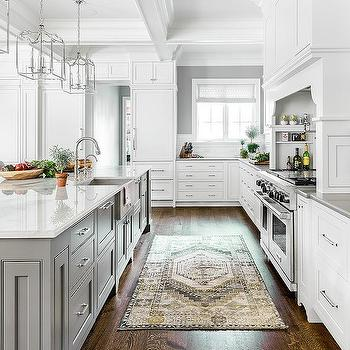 Yellow And Gray Vintage Kitchen Rug Design Ideas