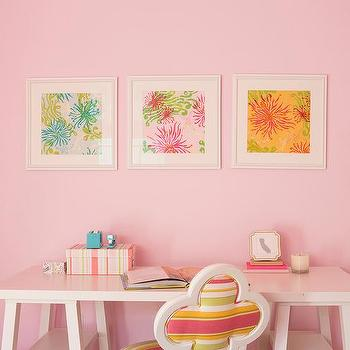 Pink Girl Bedroom Crown Moldings Design Ideas