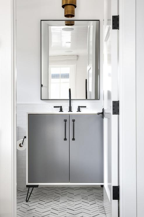 Dark Gray Bathroom Vanity Contemporary Bathroom