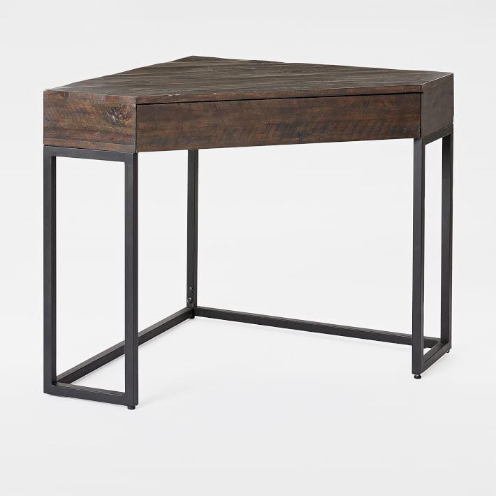 Industrial Reclaimed Wood Corner Desk