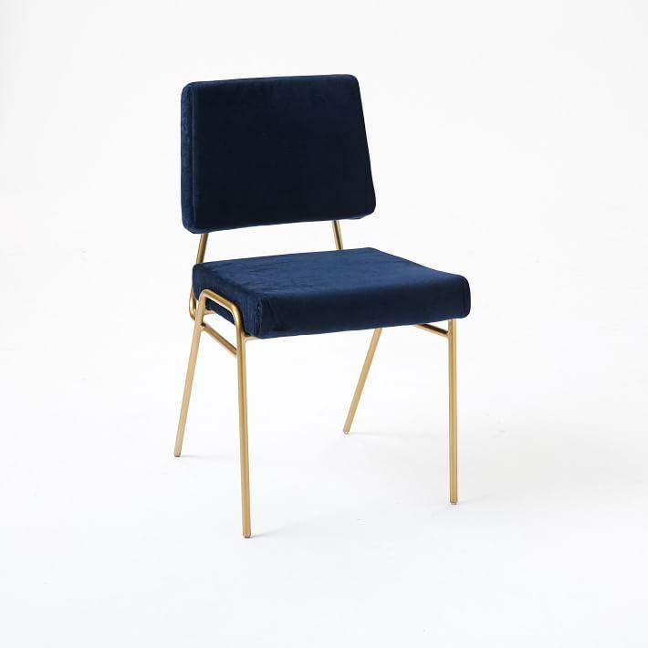 Navy Velvet Anneau Dining Chair: Beta Rose Chair