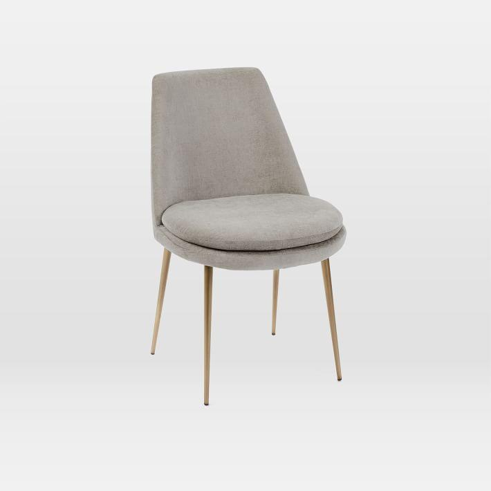Finley Low Back Taupe Velvet Dining Chair